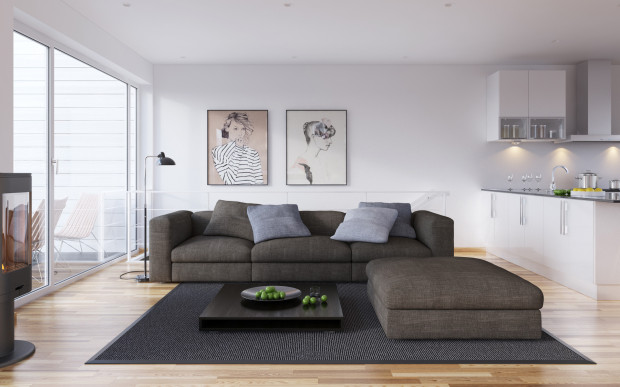 Scandinavian-interior-design-with-black-and-white-artwork-620x387