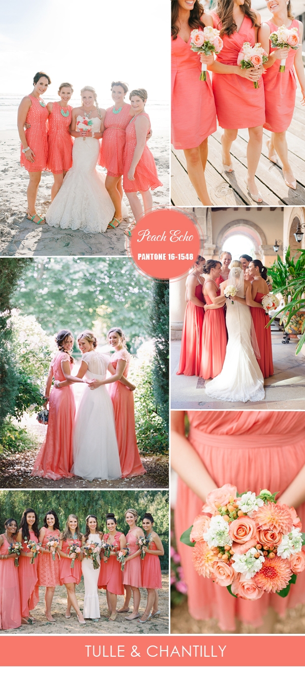 Pantone-peach-echo-inspired-spring-bridesmaid-dresses-ideas-2016